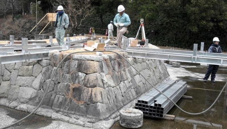 デンパーク木橋改修